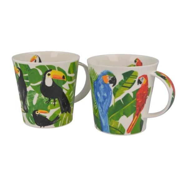 "Dunoon Becher ""Macaw & Toucan"", Cairngorm, 0,48 L"