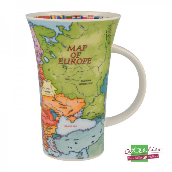 """Dunoon Becher Glencoe """"Map of Europe"""", 0,5 l"""
