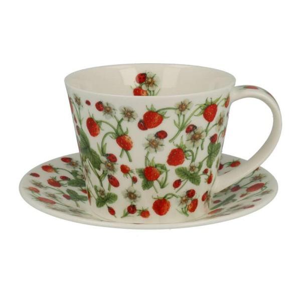 """Dunoon Tasse mit Untertasse """"Dovedale Strawberry"""", Islay, 0,35L"""