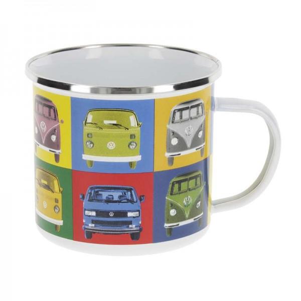 """VW T1 Bus - Emaille Tasse"", 500 ml, Multicolor"