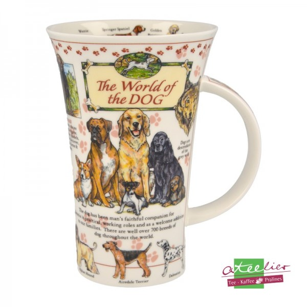 """Dunoon Becher Glencoe """"World of the Dog"""", 0,5L"""