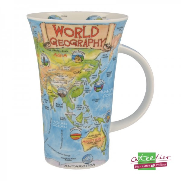 """Dunoon Becher Glencoe """"World of Geography"""", 0,5L"""