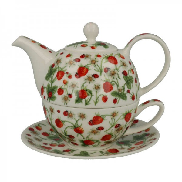 """Dunoon Tea for one """"Dovedale Strawberry"""". 3 tlg."""