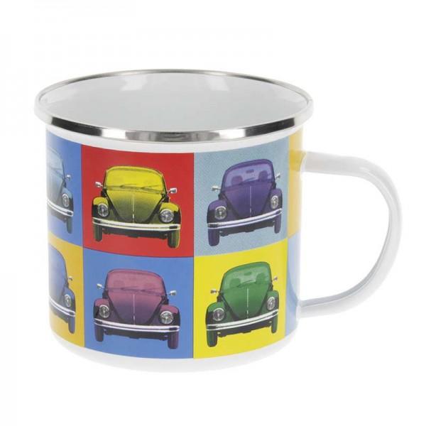 """VW Käfer - Emaille Tasse"", 500 ml, Multicolor"