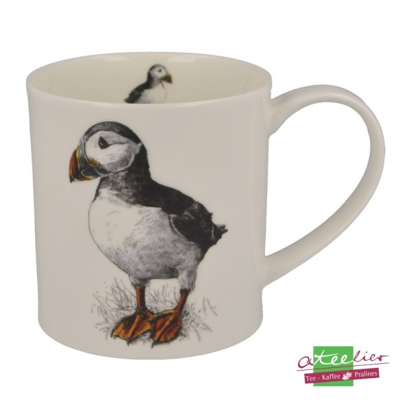 """Dunoon Becher """"H Longmuir Collection"""", Orkney, 0,35 L, Puffins"""