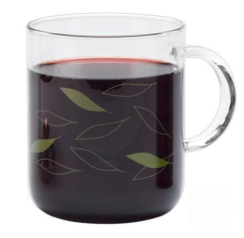 """Trendglas Tasse """"Office - Blätter"""", Glas, 0,4 l"""