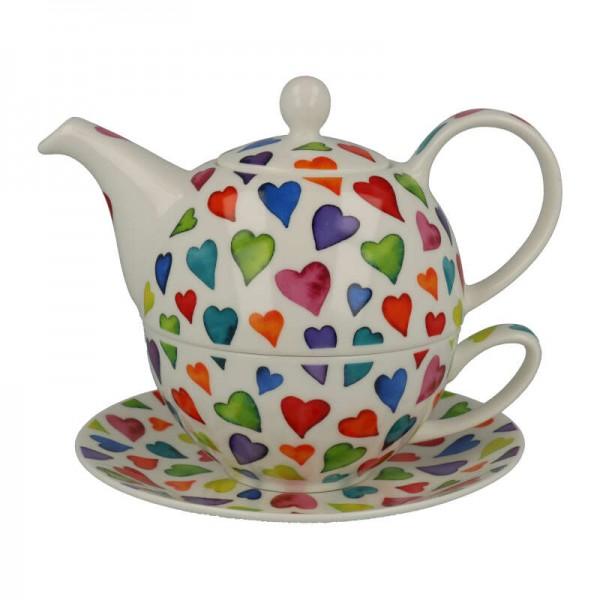 "Dunoon Tea for one ""Warm Hearts"", 3 tlg."